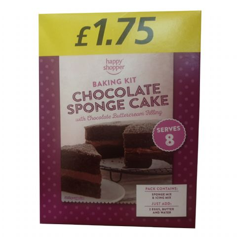 Chocolate Sponge Cake Home Baking Kit Happy Shopper 380g